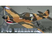 Picture of Great planes - COMBAT SERIES P 40 WARHAWK ARF GPMA1472