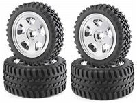Picture of Carson - Set 1/10 4 Gomme+ 4Cerchi tassellate Tamiya DT-01 DT-02 900028