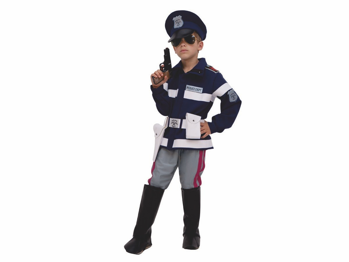 bello design vero affare nuovi oggetti Vestito /costume di carnevale Poliziotto 53450