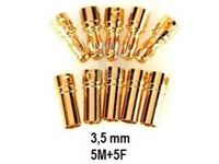 Picture of Connettore dorato 3.5 mm 5 maschi + 5 femmine
