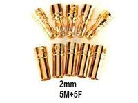 Picture of Connettore dorato 2 mm 5 maschi + 5 femmine