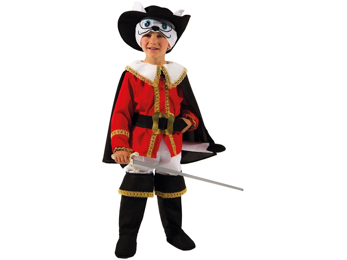 Costume di Carnevale da Piccolo Gatto con Gli Stivali