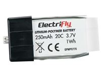 Immagine di ElectriFly by Great Planes - LiPo 1S 3.7V 250mAh 20C ElectriFly GPMP0770
