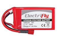 Immagine di ElectriFly by Great Planes - LiPo 11,1V 1600mAh 30C ElectriFly GPMP0850