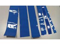 Immagine di PVC per lipo termorettraibile rigido Blu 120 mm 1mt