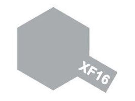 Immagine di Tamiya - Vernice acrilica opaca XF16 Flat Aluminum 10 ml 81716