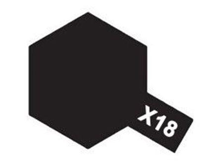 Immagine di Tamiya - Vernice acrilica lucida X18 Semi Gloss BLK 10 ml 81518