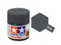Picture of Tamiya - Vernice acrilica lucida X10 Gun Metal 10 ml 81510