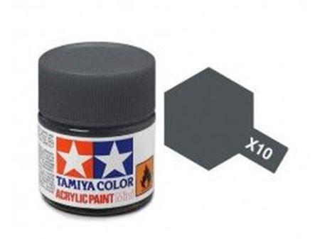 Immagine di Tamiya - Vernice acrilica lucida X10 Gun Metal 10 ml 81510