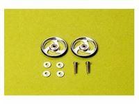 Immagine di Tamiya - Mini 4wd Rotelle Alluminio 19mm+ Cuscinetti 15160