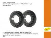 Immagine di Slot.it - Puleggia nera a 17 denti per 4WD system - (2x) CH100
