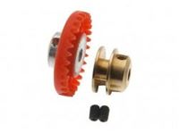 "Picture of Scaleauto - Nylon crown Gear 30th.  M50 with M2 screw for 3/32"" axle -red-  16.1mm. diam. SC-1100"
