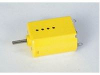 Picture of Scaleauto SC-15 motor without Pinions  -TECH 2- Yellow 25000 rpm, 0.29 Amp., 230 g-cm at 12V  SHORT-CAN Size: 25x20x15mm. Sealed Endbell. Motor size to fit Fly, Ninco, Mrrc, Scalextric, proslot and pl SC-0015