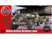 Immagine di AirFix - Willys Jeep, Trailer & 6PDR Gun A02339