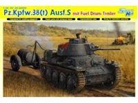 Immagine di Dragon - 1/35 Pz.Kpfw.38(t) Ausf.S mit Fuel Drum Trailer - SMART KIT 6435D