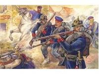 Immagine di ICM - 1:35 - Prussian Line Infantry (1870-1871) (4 figures - officer on horse, 3 soldiers) 35012