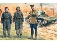Immagine di ICM - 1:35 - Soviet Tank Crew (1939-1942)    (3 figures - 1 officer, 2 tankmen) 35181