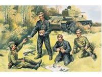 Immagine di ICM - 1:35 - Soviet Tank Crew (1943-1945) (4 figures - 2 officers, 2 tankmen) 35351