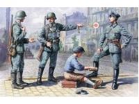 Immagine di ICM - 1:35 - German Patrol (1939-1942) (4 figures - 1 officer, 2 soldiers, 1 civilian) 35561