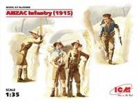 Immagine di ICM - 1/35 ANZAC Infantry (1915) (4 figures) 35685