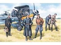 Immagine di ICM - 1:48 - German Luftwaffe Pilots and Ground Personnel (1939-1945)  (7 figures - 3 pilots, 4 mechanics) 48082