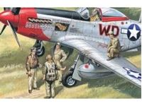 Picture of ICM - 1:48 - USAAF Pilots and Ground Personnel (1941-1945)  (5 figures - 3 pilots, 2 mechanics) 48083