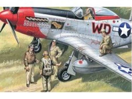 Immagine di ICM - 1:48 - USAAF Pilots and Ground Personnel (1941-1945)  (5 figures - 3 pilots, 2 mechanics) 48083