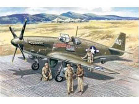 Immagine di ICM - 1:48 - Mustang P-51B with USAAF Pilots and Ground Personnel 48125