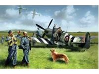 Picture of ICM - 1:48 - Spitfire Mk.IX with RAF Pilots and Ground Personnel 48801