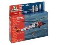 Immagine di Italeri - 1/72 HH-60J Coast Guard include colla colori e pennello 71346S