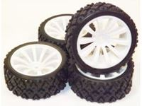 Picture of 1/10 On-road 10-Spoke Tire Set (4 pcs) Rim634232W+Tire633011