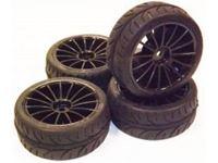 Picture of 1/10 On-road 15-Spoke Tire Set (4 pcs) Rim634214B+Tire633004