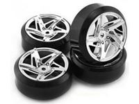 Immagine di 1/10 Drift 5-Spoke Tire Set (4 pcs)