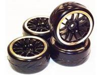 Picture of 1/10 Drift 14-Spoke Tire Set (4 pcs)