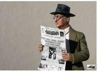Immagine di Homme lisant le journal ann?es 70 ? E. Ferrari