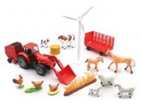 Immagine di New Ray - 1:32 B/O FARM TRACTOR PLAYSET TRY ME 01785