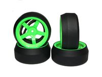 Picture of Yeah racing spec d gomme da drift offset +6 cerchio 5 raggi verde (4) WL-0087