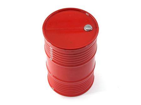 Immagine di Yeah racing fusto 200lt in metallo colore rosso per jeep e crawler scala 1/10 YA-0353