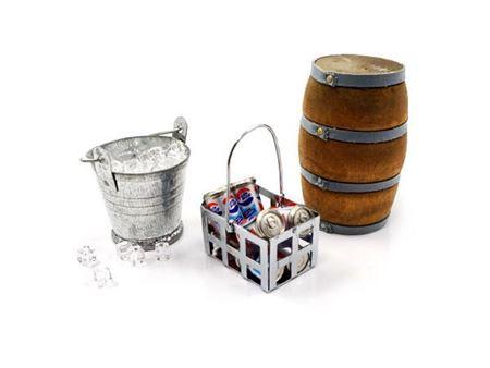 Immagine di Yeah racing accessori secchio con ghiaccio, lattine coke, botte in legno jeep crawler YA-0368