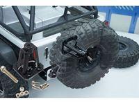Immagine di Yeah racing supporto porta ruota di scorta in metallo per axial scx10 scaler jeep YA-0457BK