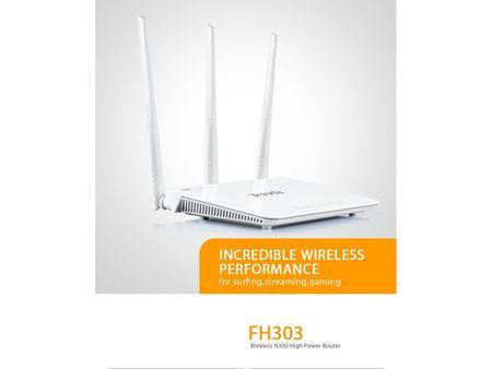 Immagine di Router Wireless N300 3 Porte LAN+Porta WAN 2T3R Tenda FH303