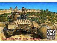 Immagine di AFV CLUB - AFV 1/35 British Mk III Valentine Tank w/Rotatrailer AF35201
