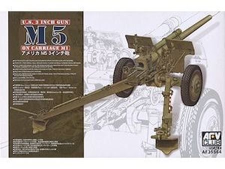 Immagine di AFV CLUB - AFV Club 1:35 U.S. 3 inch gun M5 on carriage M1 AF35S64