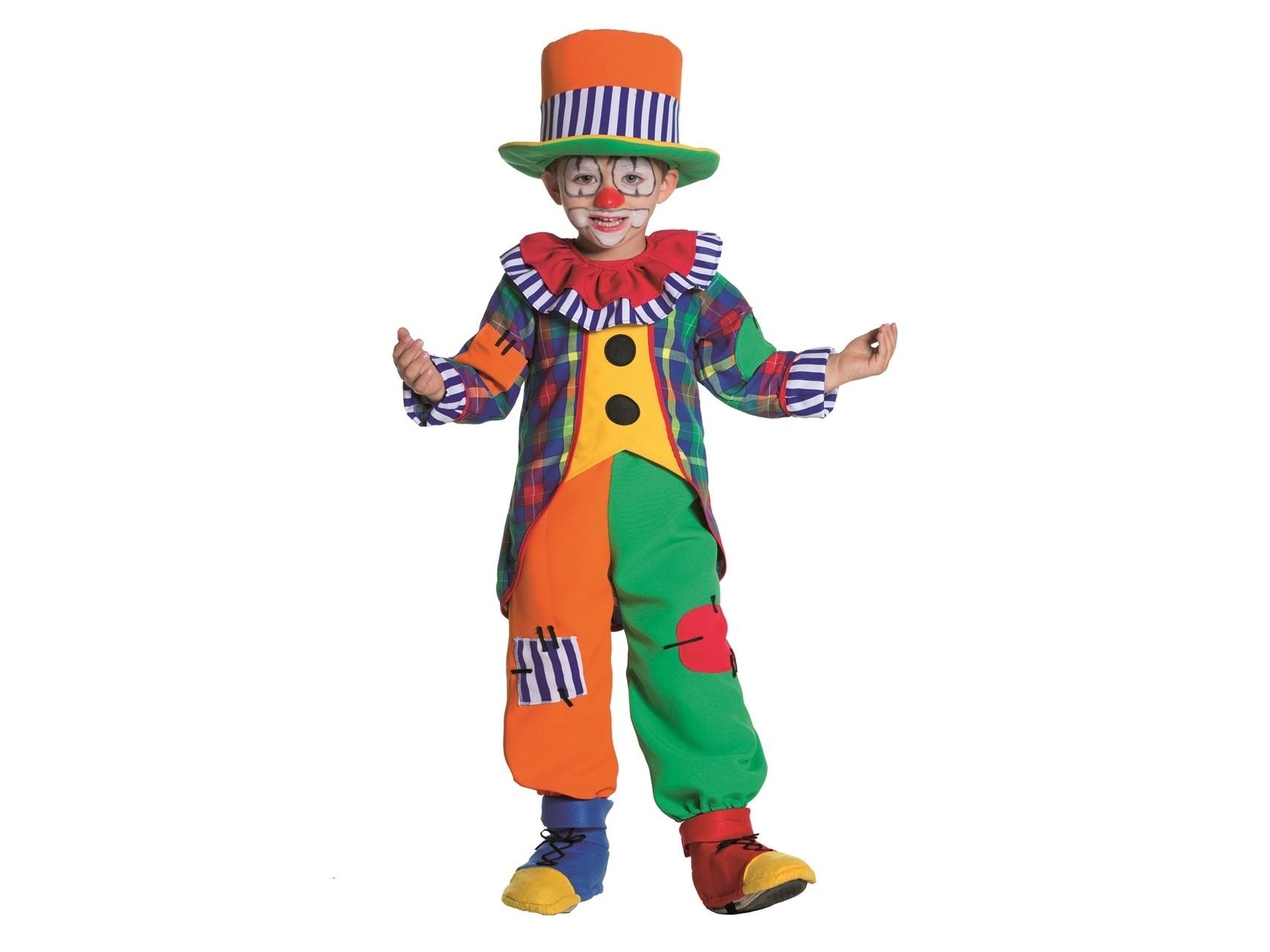 Costume Di Carnevale Per Bambino Pagliaccio Baby