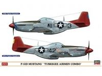 "Immagine di P-51D MUSTANG ""TUSKEGEE AIRMEN COMBO"" (Two kits in the box) in scala 1:72"