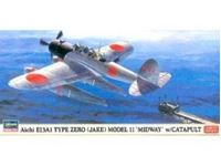 "Immagine di AICHI E13A1 TYPE ZERO (JAKE) MODEL 11 ""MIDWAY"" w/CATAPULT in scala 1:72"