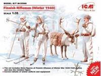 Immagine di 1:35 Finnish Riflemen (Winter 1940) (4 figures - 3 rifleman, 1 reindeer) (100% new molds)