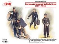Immagine di 1:35 German Armoured Vehicle Crew (1941-1942) (4 figures and cat) (100% new molds)