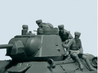 Immagine di 1:35 Soviet Tank Riders (1943-1945) (4 figures) (100% new molds)