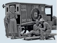 Immagine di 1:35 WWI US Medical Personnel (4 figures) (100% new molds)
